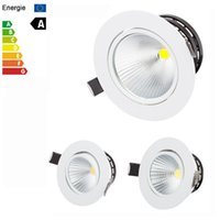 Wholesale cob led dimmable recessed downlight resale online - COB W W W W LED Downlight Fixture Ceiling Down Lights Warm Cool Natural White K Decorative Recessed Lamps Dimmable Non