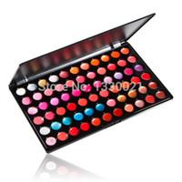 paleta de labios profesional al por mayor-Al por mayor-Belleza profesional 66 Color Lip Gloss Lipstick Cosmetic Makeup Palette FATE