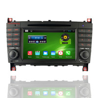 Wholesale Gps Mercedes Class C - HD 1024*600 Android 4.4.4 Car DVD for Mercedes Benz C Class CLK W203 C230 C240 C280 with,Mirrorlink,Wifi,3G+8G Map
