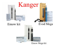 Wholesale Kit Kangertech Evod Vv - 100% Authentic KangerTech Emow Emow Mega Evod Mega Starter Kit with 1600mah EVOD VV Battery 2.8Ml Atomizer Tank