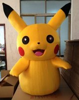 Wholesale Large Size Fancy Dress Costumes - High Quality Large volume yellow Pikachu Mascot Costume Popular Cartoon Character Costume For Adult Fancy Dress Party Suit