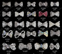 Wholesale Crystal Decorations Wholesale - Nail Stickers Nail Art 3D Alloy Metal Crystal Decoration Diamond Cellphone Rhinestone Glitter Charms Jewelry Crown Bow Christmas