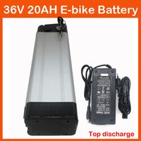 Wholesale 36v li ion battery charger - Rechargeable 1000W 36V 20AH Li-ion Electric Bike Battery with slim Aluminium Case BMS 42V 2A charger Top discharge Free shipping