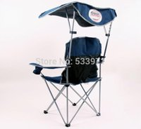 outdoor folding chairs with canopy - Portable Folding Backpack Beach Chair With Sunshade Causal Outdoor Foldable Canopy Chair Folding Fishing Chair with Awning