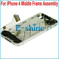Wholesale Iphone Silver Bezel Frame - Silver Bezel Frame Middle Chassis Full Parts Assembly For iPhone 4 4G Brand New Free Shipping