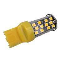 Wholesale W21w Led - WLJH 10W Amber Yellow Canbus 7440 7441 T20 W21W Led Bulb 60SMD 2835LED Car Reverse Backup Light Turn Signal Lamp External Lights