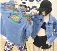 Wholesale Cotton Denim Shirts Men - fashion casual Brand jeans women tops spring and autumn harajuku summer t shirts Sweatsh men womens clothing denim jacket