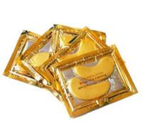 Wholesale Crystal Golden Collagen Eye Mask - New stock -Anti-Wrinkle NEW Crystal Collagen Gold Powder Eye Mask Golden Mask stick to dark circles 2000pair