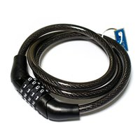 Wholesale Bicycle Cables - S5Q New Bicycle Lock Bike Cable With 3 Chain Combination With 2 Keys Security AAAAQF