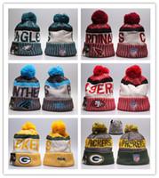 Wholesale embroidered football - Goo Fashion Football Beanies Skull Caps 2017 Winter Men Women Sport Fashion Warm Hat