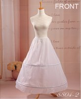 Wholesale Inexpensive Ball Gown Dresses - Inexpensive 2 Hoops Ball Gown Wedding Bridal Petticoat Crinoline Slip For Wedding Dresses Accessories