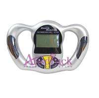 mostrar figuras al por mayor-Probador de BMI de mano Monitor de peso de la salud Analizador de grasa corporal Pantalla LCD 5 tipo de cuerpo figura