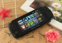 Wholesale Games Mp5 Touch - HOT SELL 4.3 Inch PMP touch screen Handheld Game Player MP4 MP5 Player Video FM Camera 8GB Portable Game Console free ship