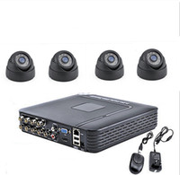 Wholesale Dvr 8ch Real Time - Free shipping NEW 8CH DVR 4x1300TVL 3.6MM indoor Home CCTV Surveillance Security Camera System Real time video Recorder