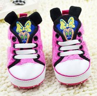 Wholesale Cheap Minnie Mouse - Wholesale-Baby Shoes 2015 Pretty Cheap Sale Lastest Baby Girl First Walkers Shoes Minnie Mouse Shoes 2 Colors Baby toddler shoes