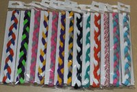 Wholesale Cotton Rope For Sale - NEW 100pcs 3 rope mini headband Wholesale New Hot sale many colors triple braided headband for Halloween