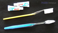 Wholesale Toothpaste Wholesale Supplies - Retail Disposable Toothbrush and Toothpaste Suit One time Dentifrice Travel Hostel Guesthouse Hotel Supplies The low end Toothbrushes