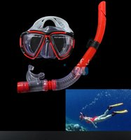 Wholesale Diving Equipment Set - 1set Fishing Swimming Diving Equipment Dive Mask + Dry Snorkel Set New and Hot Selling Free Shipping