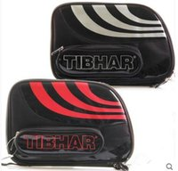 Wholesale High Quality Table Tennis Rackets - High quality- Table Tennis racket bag Tibhar bag 421102 double set pingpong cover