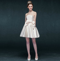 Wholesale Tuxedo Club Dresses - Exquisite Cocktail Dresses Custom Made Satin Bows Fold Temperament New Arrival Hot Sale No Risk Shopping Ladies formal tuxedo 5195