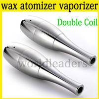 Wholesale Gax Atomizer - Aga wax atomizer dual coil wax dry herb atomizer dual silica wick steel atomizer vaporizer Cannon Cax gax globe mod e cigarette atomizer DCT