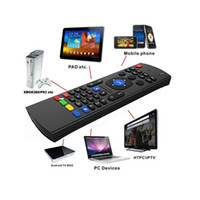micrófono multimedia al por mayor-X8 Mini teclado inalámbrico Fly Air Mouse remoto MIC Combo G-Sensor para MX3 MXQ M8 M8S M8N M95 Amlogic S905 5.1 Android TV BOX Reproductor multimedia