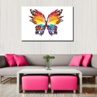 Wholesale Cheap Abstract Paintings - Modern paintings abstract butterfly large wall pictures for living room canvas wall art wall decor painting cheap home decor print art