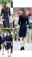 Wholesale Kate Coat - Wholesale-New Women Long Wool Coats Kate Middleton Double Breasted Trench Coat Celebrity Style Autumn Winter Outerwear