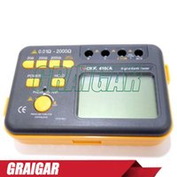 Wholesale Ground Earth - 100% Original New Generation Professional VICTOR 4105A Digital Earth Ground Resistance Tester 200V 0.1~2000 Ohm 2%