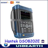 Wholesale Hantek Handheld Oscilloscope - Hot selling Hantek DSO8202E Handheld Oscilloscope Scopemeter 2 CH 200MHz 1GSa s Arbitrary Waveform Generator 25MHz