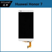 Wholesale Cell Phone Glass Lcd Screens - Huawei Honor 7 LCD Display+Touch Screen Digitizer Glass Panel Black And White Cell Phone LCD Touch Screen For Huawei Honor 7