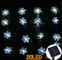 Wholesale Waterproof Solar Lanterns - Solar LED String Lights 20 LED Snowflake light Christmas Festival Party Garden Decoration string led Fairy Lantern Outdoor waterproof