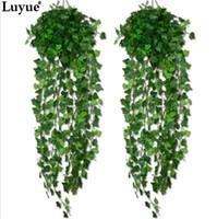 Wholesale Fake Feet - Luyue Artificial Ivy Leaf Garland Plants Vine Fake Foliage Flowers Home decor 7.5 feet