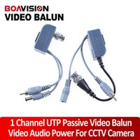 Wholesale Bnc Audio Balun - BNC Coax CCTV twisted pair Video Audio Power Balun Transceiver Cable