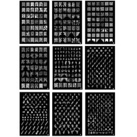 Wholesale Diy Images Flowers - BIG Designs * 9 Style XXL Nail Art Stamping Plate Stamp Image Plates XL Stencil Print Template Transfer Polish French Flower Tattoo DIY #L-T