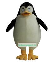 Wholesale Penguin Fancy Dress - Wholesale-Hot sale Madagascar Penguin Mascot Costume adult Fancy Dress Character mascot costume Free Shipping