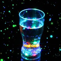 Wholesale Glow Cups Wholesale - (5 pieces lot) 2015 New Attractive Cups Led Glowing Party Glasses Birthday Supplies Plastic LED Party Lights Cup With Battery