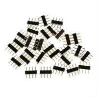 Wholesale 12v Pin Adapters - 4-pin Male Connector Adapter for RGB LED Strips LED Light 12V 1000pcs