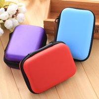 Wholesale Mixed Colorful Bag - Portable Zipper Bag Earphone Cable Mini Box SD Card Coin Cuboid Purse Headphone Earphone Bag Storage Carrying Pouch Bag Case Colorful