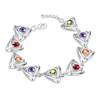 Wholesale Cheap Cubic Zirconia Charms Wholesale - 2016 925 sterling silver charm bracelet with zircon jewelry nice Valentine's Day gift for a woman top quality cheap wholesale free shipping