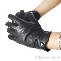 Wholesale Wholesale Leather Opera Gloves - Women Real Sheepskin Leather Gloves Winter Cape Gloves Black Wrist Gloves A5