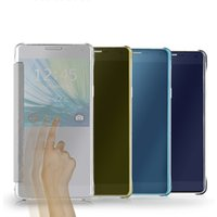 For Samsung S6 Edge Plus S5 S6 Note 5 4 galaxy s5 mirror - Smart flip slim clear view mirror case cover For Samsung Galaxy S6 Edge Plus S5 S6 Note A5 A7 A8