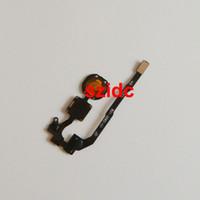 kablo takibi toptan satış-10 adet / grup Yeni Ana Düğme Anahtar Flex Kablo Yedek Parça Tamir iPhone 5 S Ücretsiz Nakliye Ile Takip Numarası