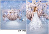 Wholesale Glass Tale - 5X7ft Dream Fairy Tale Princess Photography Prop Backdrop For Photos Muslin Computer Printed Digital Cloth Vinyl Backgrounds
