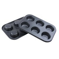 Wholesale Love Box Cake - The house full of love cake tool box of six cups of non-stick coating High flat circular six even cake mold free shipping