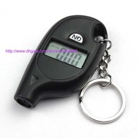 Keychain Numérique De Jauge De Pneu Pas Cher-500pcs Mini Keychain LCD Digital Screen Tire Tire Air Pressure Gauge Tester Key Ring pour Auto Car 5-150PSI Bike Motorcycle