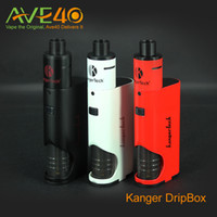 Wholesale Evic Starter - Kanger Dripbox Starter Kit with 7ml Big Capacity Tank VS Subvod Mega Kit Joyetech evic mini with cubis 100% Origianl