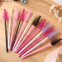 Wholesale Eyelash Extensions Mix - 1000 Pcs Lot Wholesale 19 Colors Mix Disposable Water Drop Shape Eyelashes Brush Eyelash Extension Mascara Wand Applicator