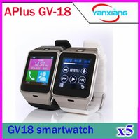 Wholesale 12 Pc Monitor - 5 pcs A Plus Smartwatch Phone GV18 Bluetooth hands-free Wrist watches answer Sleep monitoring Aplus Smart Watch for smartphone ZY-SB-12
