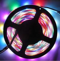 Wholesale Super Bright Color Led - Super bright led strip 5V 60Led M programmable WS2812B RGB 5050 LED strip Digital Individually addressable magic dream color Waterproof IP67